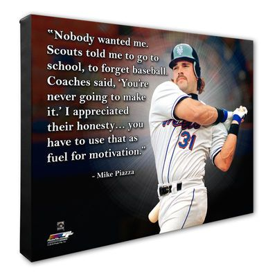 """Mike Piazza New York Mets 16"""" x 20"""" Player Quote Canvas"""