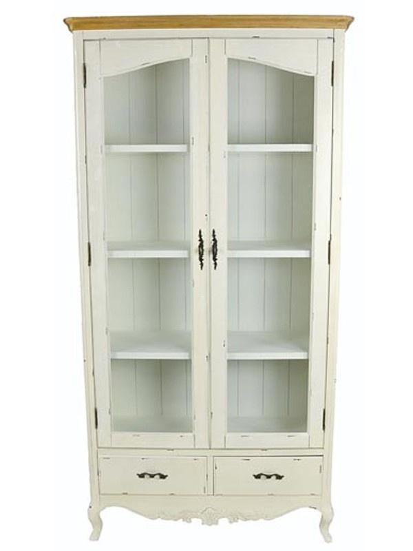 Vitrina 2 puertas blanca mi casa al estilo provenzal - Vitrinas para casa ...