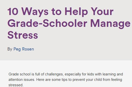 Tips to Prevent Your Child From Feeling Stressed | Managing Stress