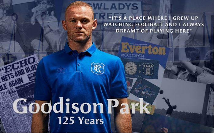 Everton FC Goodison Park 125th Anniversary Umbro Home Kit