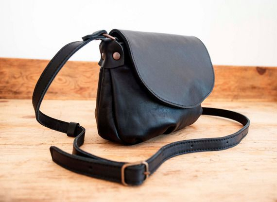 Petit Sac à Main Cuir Noir Bandoulière : Petit sac ? main noir pour femme bandouli?re en