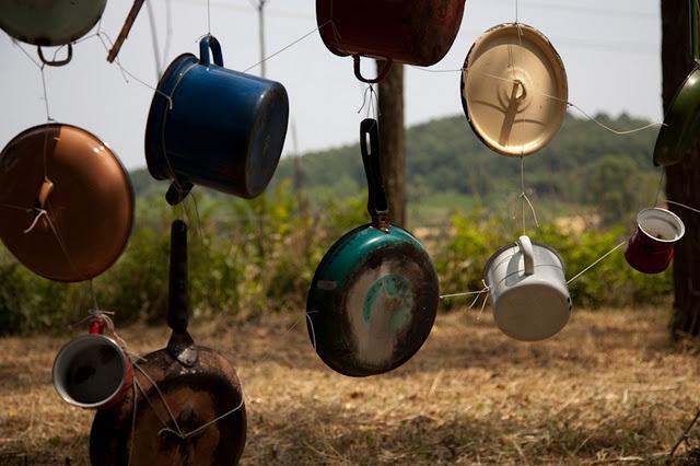 banging wall--outdoor music