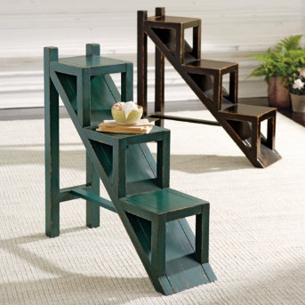 Our Ashland Accent Table is a replica of a rare antique find—and much more than just a table. With its stair step design, Ashland makes an extraordinary bookcase, multi-tiered plant stand, or curio for any room in your home.
