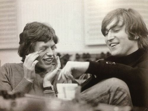 theswinginsixties:  Mick Jagger and John Lennon