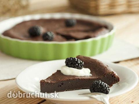 Čokoládová tortička s ovocím