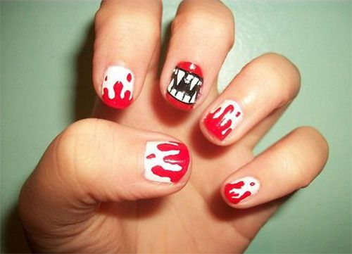 33 best halloween blood nail art designs images on pinterest halloween blood nail art prinsesfo Choice Image