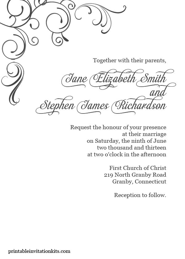 Free pdf download simply elegant swirls border wedding for Wedding invitation page borders free download