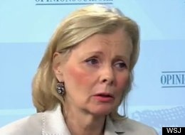 """Peggy Noonan, who made waves with her criticism of Romney on Fox News, had an even more withering assessment for her own Wall Street Journal. """"Romney looked weak today,"""" she said. """"At one point, he had a certain slight grimace on his face when he was taking tough questions from the reporters, and I thought, 'He looks like Richard Nixon.'"""""""