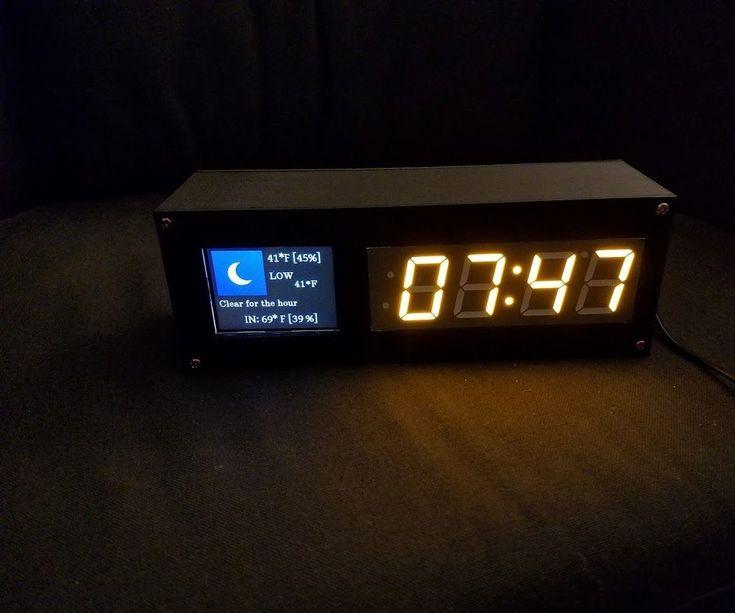 Great looking desktop clock with date & weather display.