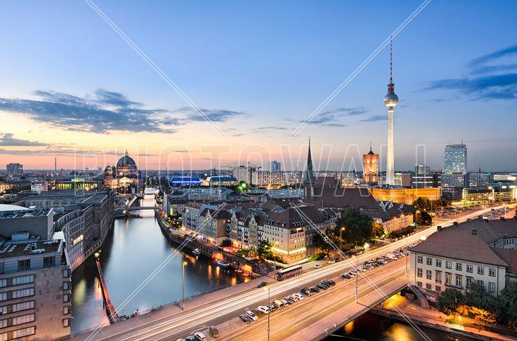 Berlin Skyline Panorama - Bilder auf Leinwand - Photowall