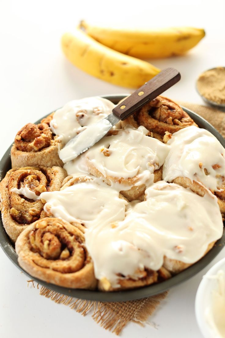 AMAZING-1-bowl-Vegan-Banana-Bread-Cinnamon-Rolls!-One-bowl,-9-ingredients,-so-delicious!-#vegan