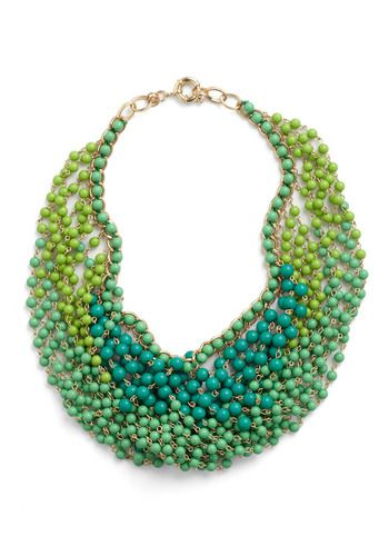 greenFashion, Statement Necklaces, Style, Beads Necklaces, Art Necklaces, Jewelry, Accessories, Peacocks Colors, Shades Of Green