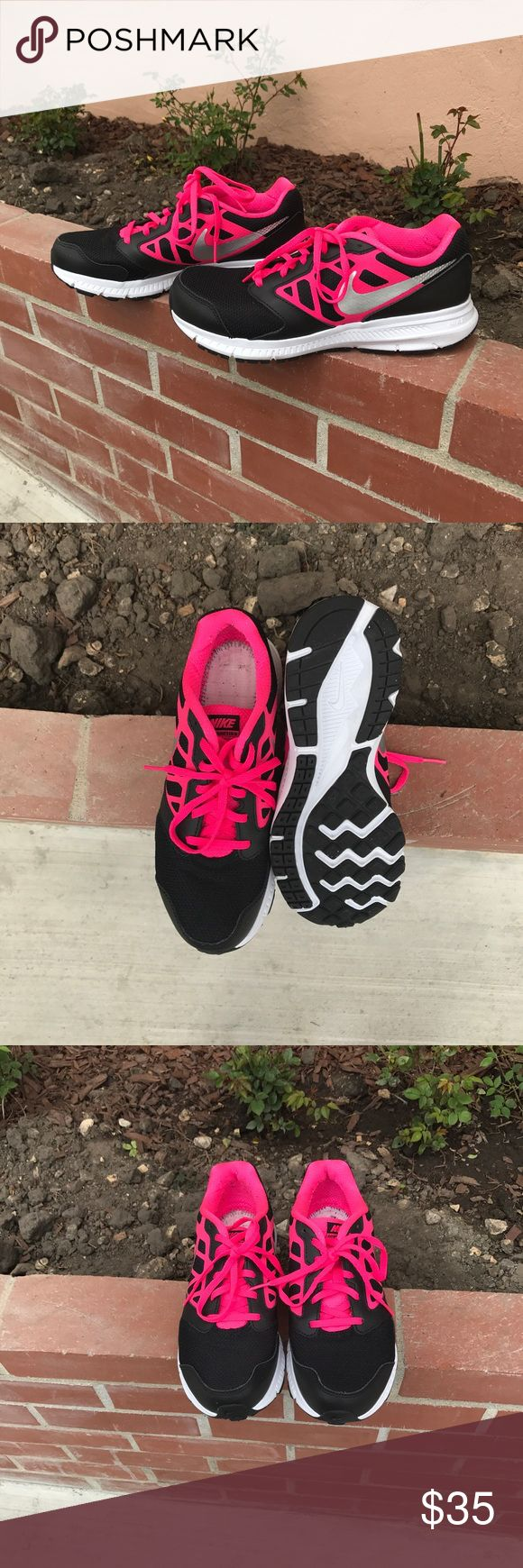 Nike Downshifter 6 Worn twice. Took out the soles and I think I threw them away so they will not be included with the shoes. Running shoes. Shoe tag says 6Y but fits a woman's size 8. Offers welcome. Nike Shoes Athletic Shoes