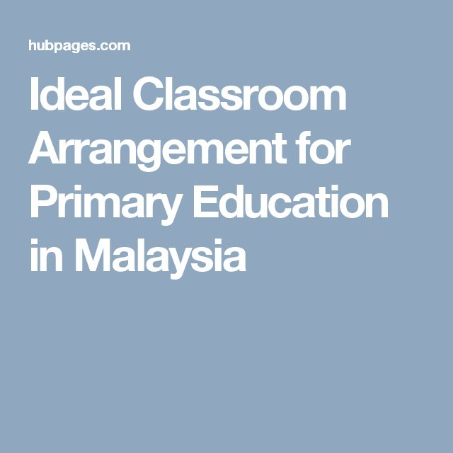 Ideal Classroom Arrangement for Primary Education in Malaysia