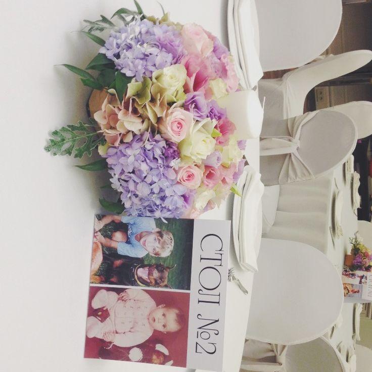 Номерки на столы с детскими фото для свадьбы