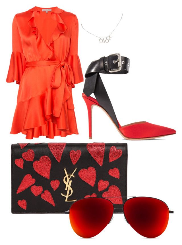 featuring polyvore, fashion, style, Maria Lucia Hohan, Monse, Yves Saint Laurent, Christian Dior and clothing