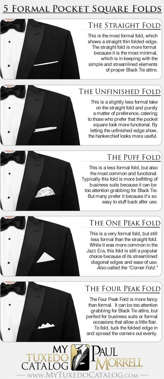 ideas for pocket squares. Get ready for fun this end of year!