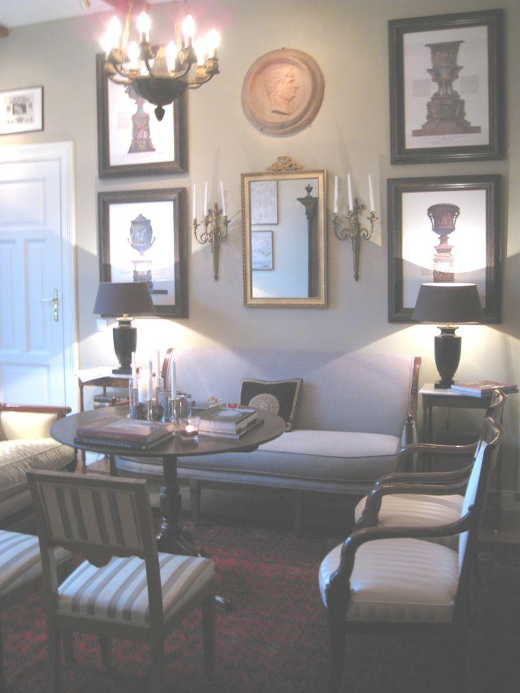 Empire Room Wonderful Directoire Sofa Covered In Grey Linen Found At Brownrigg Interiors Wall Hangingsempiregermanysofaslinens