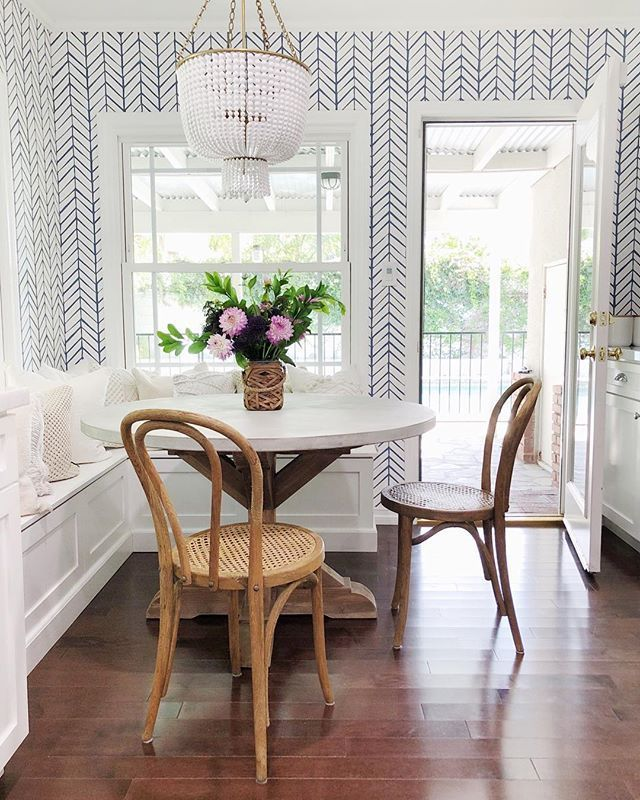Feather Wallpaper In 2020 Dining Nook Nook Table Retro Home Decor