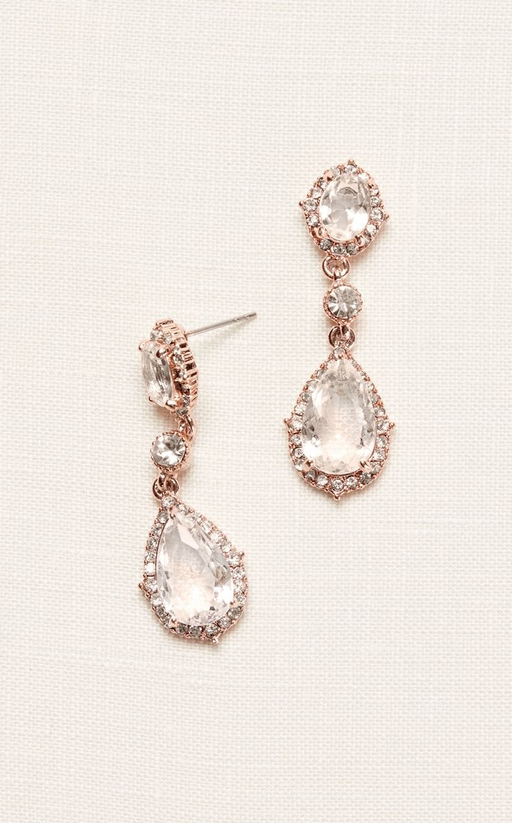 Filigree and Crystal Drop Earrings | Homecoming Accessories at David's Bridal