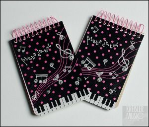 音楽雑貨 可愛い音符&ピアノ鍵盤柄のメモ帳2冊セット 新入荷 ...