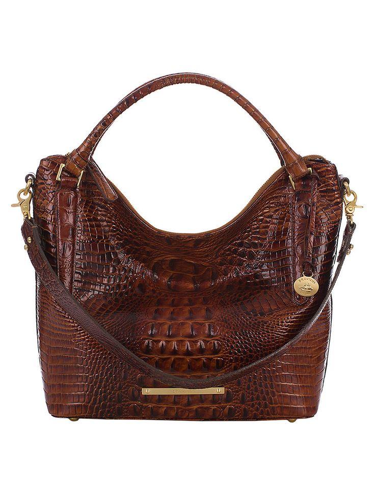 Yasmena Handbag Brahmin Norah Leather Shoulder Bag In Brown Pecan Lyst