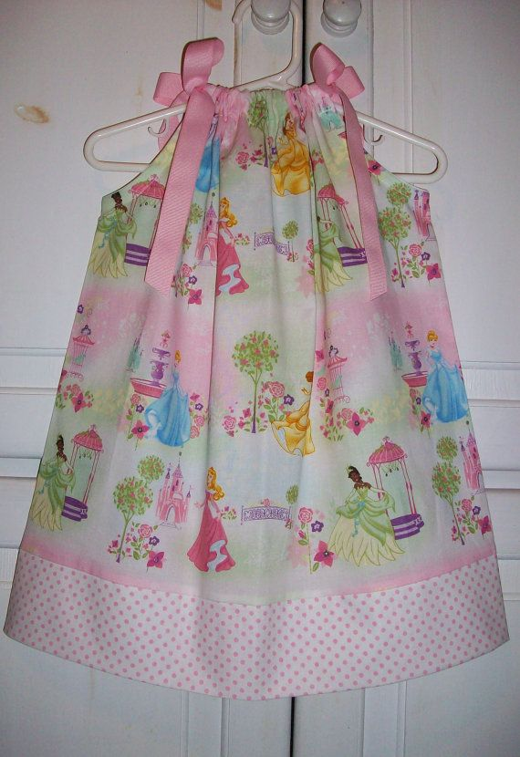 Pillowcase Dress DISNEY PRINCESS Pink with by lilsweetieboutique, $15.99