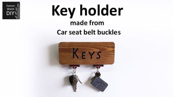 SEAT BELT BUCKLE KEY HOLDER: 14 Steps (with Pictures)