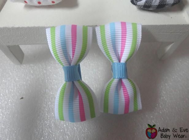Rainbow Stripes Hair Clips - Baby Girls Accessories  http://www.adamandevebabywear.com.au/p/7606030/rainbow-stripes-hair-clips---baby-girls-accessories.html