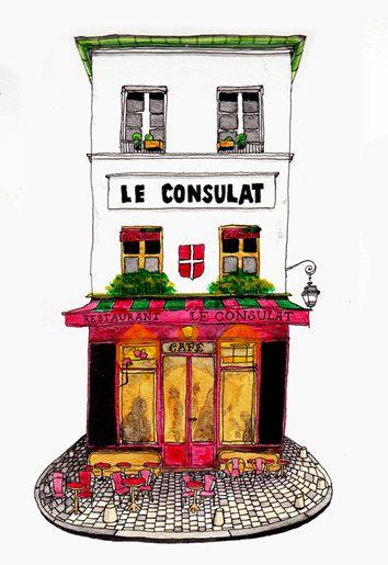 Architectural Illustration Art Print / Paris by DaydreamWorks