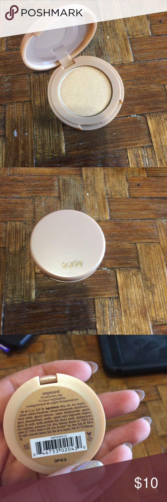 Travel size tarte highlighter Brand new never been used highlighter. Color is exposed. tarte Makeup Luminizer