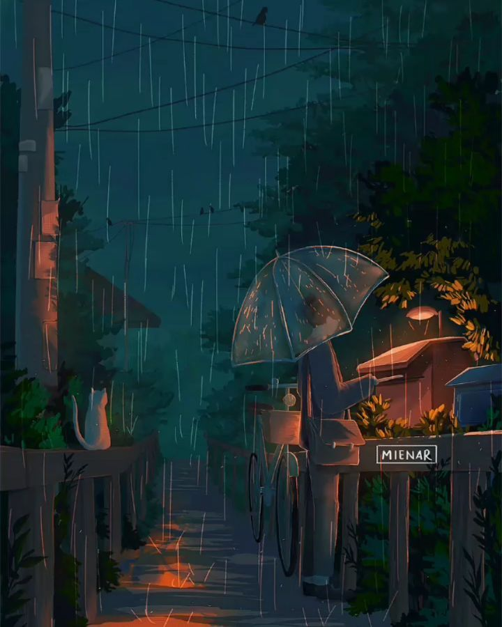 Live Wallpaper Cute Couple Late Nights Trips By Mienar Art In 2019 Anime Scenery