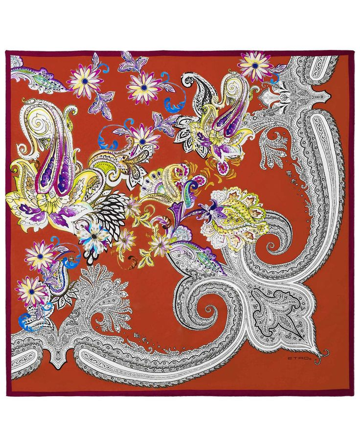 Red floral paisley print silk scarf from #Etro. Discover more Etro scarves at http://www.liberty.co.uk/fcp/categorylist/dept/accessories_scarves #LibertyScarves
