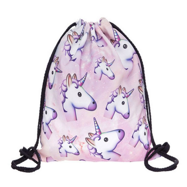UNICORNS ARE REAL! This year's coolest drawstring just landed at Lapin Chic and it's this cute one in pink with lots of emoji unicorns. How cute?! ▲ Size : 39 x 30 cm // 15,35 x 11,81 inch ▲ Polyester