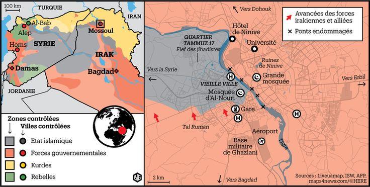 Irak, la situation à Mossoul au 20 mars 2017