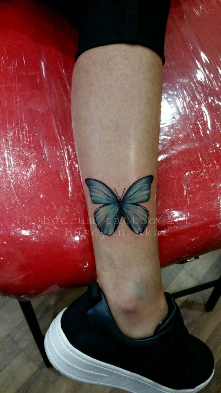 bodrum tattoo art studio tattoo artist Hüseyin Akar butterfly tattoo kelebek dövmesi bayan dövme modelleri bodrum tattoo bodrum dövme sanati tattoo idea
