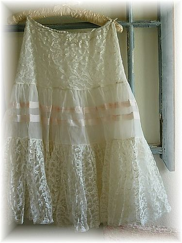vintage white & pink petticoat by Sweet Remembrance, via Flickr