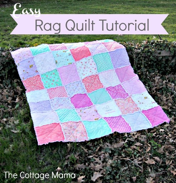 Easy Rag Quilt Tutorial quilts Pinterest Quilt, Bunnies and Love