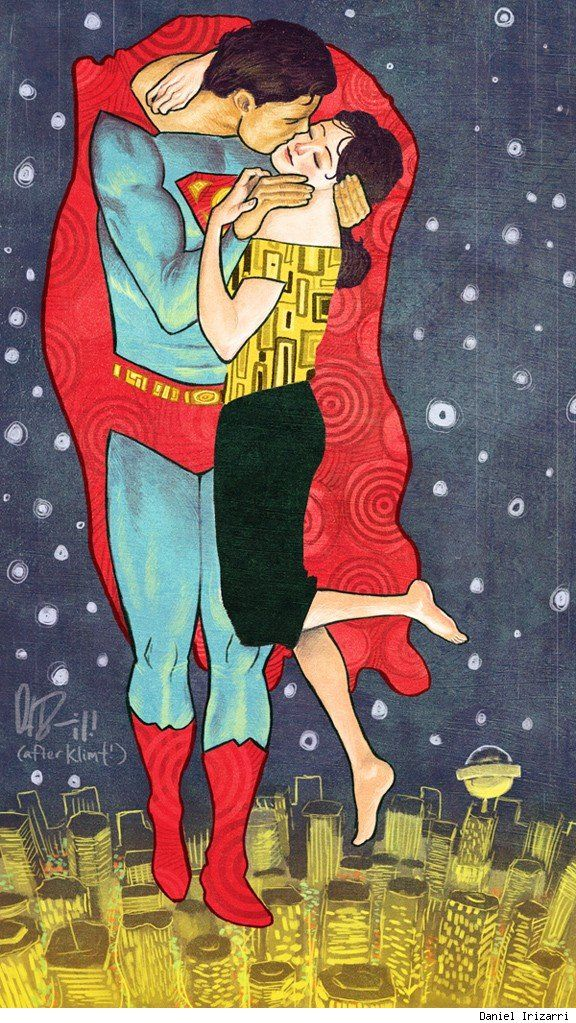 I would totally have switched my college Klimt poster for this one. #klimt #superman