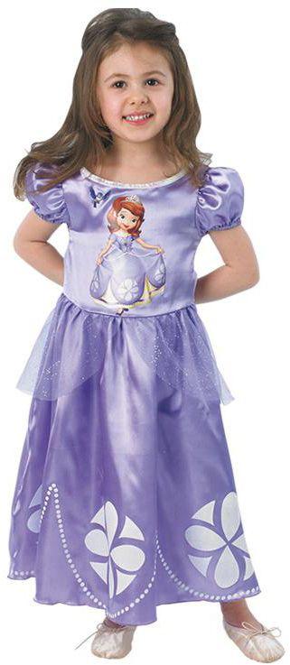 Déguisement Princesse Sofia Disney™ fille : Ce déguisement de Princesse Sofia™ pour enfant sous licence officielle se compose d'une robe (chaussures non incluses).La robe est violette en tissu satiné. Elle...