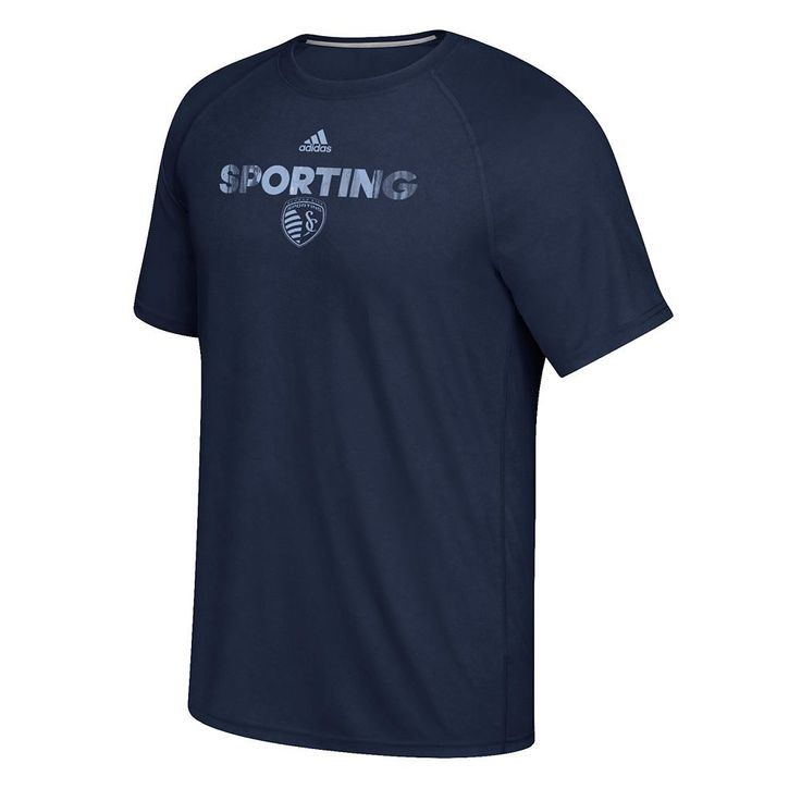 Men's Adidas Sporting Kansas City Ultimate Tee, Size: Small, Blue (Navy)