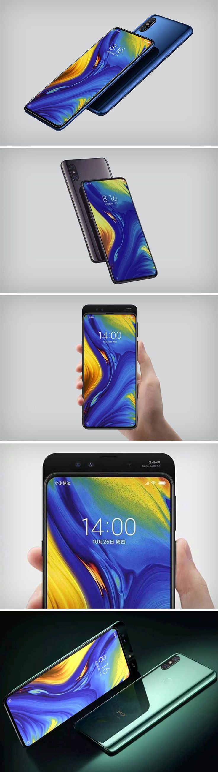 The Mi Mix 3 Comes With Absolutely No Sign Of A Notch As The Camera Gets Mounted On A Sliding Component At The Back Much Like O Xiaomi Camera Phone Finding X