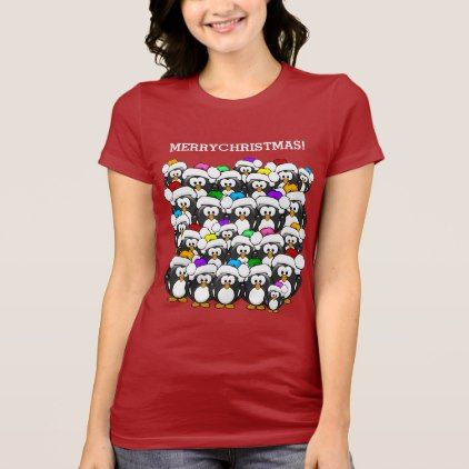 #Merry Christmas Penguins T-Shirt - #cute #gifts #cool #giftideas #custom