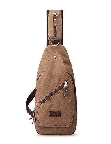 Muzee Canvas Sling Bag Shoulder Backpack Outdoor Travel Crossbody Pack for  Men  Muzee   cloth, shoes   accessories ในปี 2018   Pinterest 2271384f33