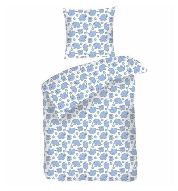 Køb Blå sove trine sengetøj baby fra night & day hos HoppeLoppe