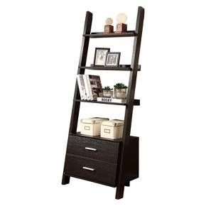Ladder Bookcase with Drawers - Brown - Monarch Specialties : Target
