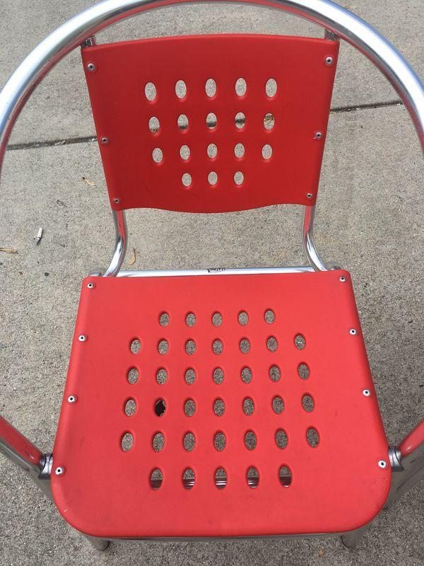 Miraculous Outdoor Deck Patio Table Chairs Aluminum And Polypropylene Inzonedesignstudio Interior Chair Design Inzonedesignstudiocom