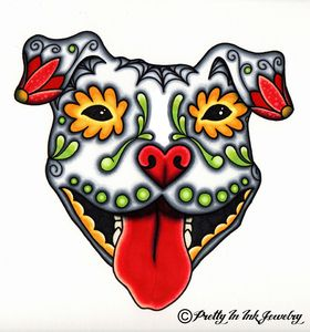 Sugar Skull Pit Bull - I'm in love with this idea for a potential tattoo! Yea or Nay?