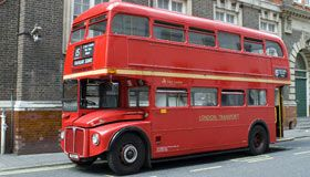 Wedding bus hire London; the classic London double decker routemaster