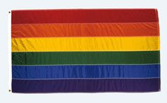 #Regenbogenfahne 1990-1995 Polyester, gefärbt, genäht; Reste von Kerzenwachs // ENGLISH: #Rainbow #flag 1990–1995 Polyester, dyed and sewn; remains of candle wax #domestic #culture #history #wood #craft #switzerland #basel #antik #interior #museum #schweiz #kunst #art #hmb #gay #homosexual